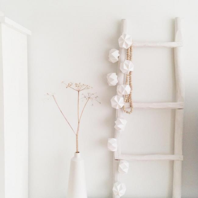 Decoratieladder xenos houten ladder decoratie decoreren bobbie s home sfeerhaarden op bio - Studio decoratie ...