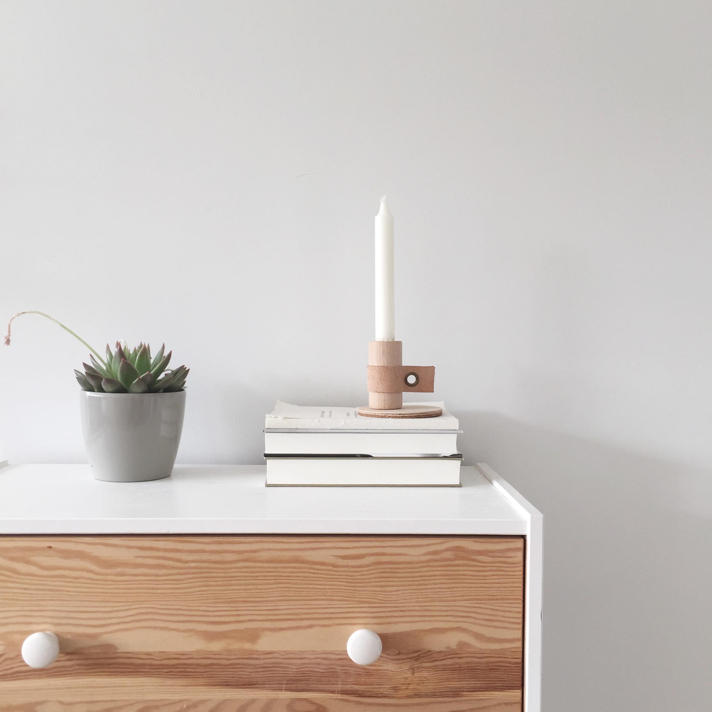 3 x stylen met een houten kandelaar van Bybjor (+ winnen)